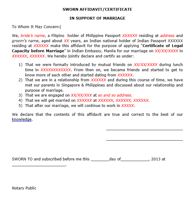 Legal Capacity To Contract Marriage